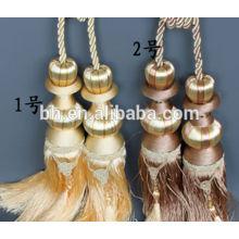 Vorhangtroddel, Quaste für Vorhang, Knotenvorhang Quaste, Blindschnur, Vorhangdraht