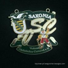 Medalha de liga Znic personalizado para Saxonia cozimento verniz medalha Medalha de cor