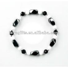 Bracelet à perles à la hématite à la mode