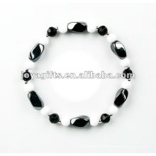 Fashion Hematite Twist Beaded Bracelet