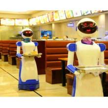 Pratos que fornecem restaurante robô para restaurante