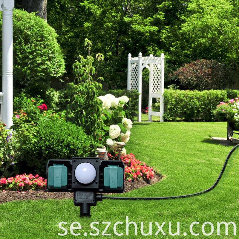Outdoor garden socket