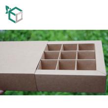 Fabricación experimentada de grado FSC marrón papel kraft caja de cajón barato para chocolate