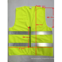 Reflective Vest with Zipper Closure, Factory in Ningbo, China