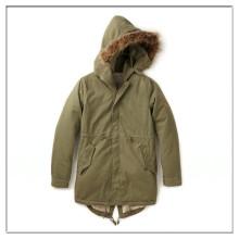 OEM дешево мужские зимние фиштейл парка с капюшоном