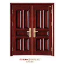China Puerta de entrada del proveedor de puerta de acero Puerta de puerta de metal del hierro (FD-1209)