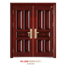 China porta de aço porta de entrada do fornecedor porta de ferro porta de metal (fd-1209)