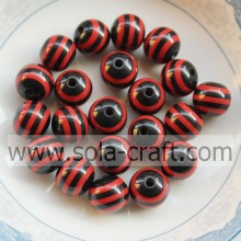 2014 8MM 500Pcs Black & Red Zebra Wholesale Shamballa Round Pandora African Wedding Latest Design Jewelry Beads