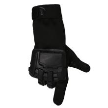 Militares de combate deportes tácticos guantes dedo completo cuero guantes Bk
