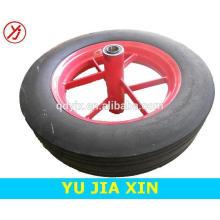 14 inch small solid rubber wheelbarrow wheel