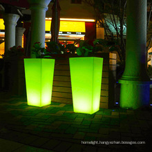 OEM Glow Flower pot factory colorful flashing rechargeable illuminated led lighted commercial planter pots