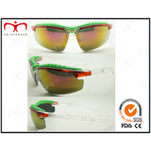 Special Design and Brilliant Colored Plastic Sports Sunglasses (LX9877)