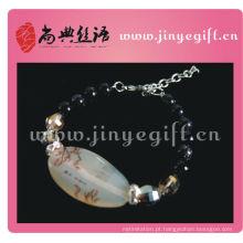 Pulseira de ágata Druzy ágata de cristal ágata chinesa artesanal