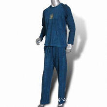 Men's Sweatsuits, Made of 80% Cotton, 20% Polyester, Velvet 240gsm with Print