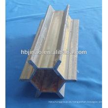Tubos de acero sin costura de precisión del producto principal con forma de dientes HEX