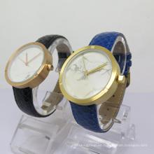 Reloj de cuarzo de diseño simple con esfera de cerámica para hombre