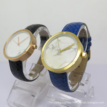 Simple Design Quartz Watch with Ceramic Dial for Mens