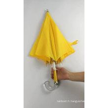 Meilleur cadeau jaune cadre de parapluie intelligent pièces nervures légères pour enfants