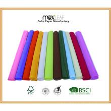 Décoration décorative décorative couleur 50 * 300cmhot Feuille de papier Crepe Paper / Crepe