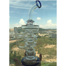 Hot Selling Inverted Triangle Recycler Glass Water Pipe Prix de gros