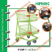 Оптовая тележка для хранения продуктовых магазинов, удобная тележка для супермаркетов, тележка для тяжелых грузов