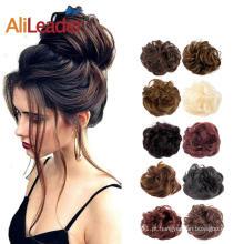 Acessórios de cabelo sintético chignon 10 cores para mulheres