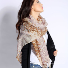 Digital Printed Refined Merino Wool Scarf