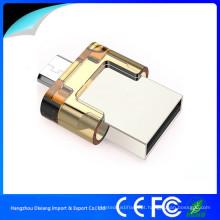 USB 2.0 OTG USB Flash Drive com Push-Pull Cap para Smartphone