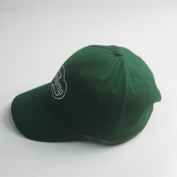Adult Green 6 Panel Embroidery Baseball Cap