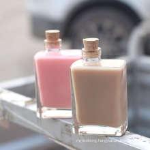Wholesale Popular Korean Net Red Waikou Lead Free Milk Tea Beverage Coffee Milk Juice Glass Bottle