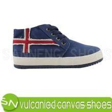 Вулканизованные холщовые ботинки для леди (SNC-02043)
