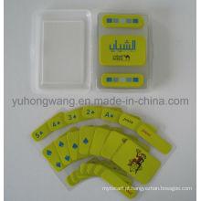 Cartão de jogo transparente do cartão de jogo do PVC, jogo de placa