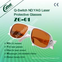 Zg01 ND YAG laser óculos de segurança máquina laser