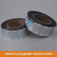 Feuille d'estampillage holographique à laser argentée de sécurité