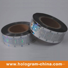 Carimbo quente da folha do holograma laser de prata