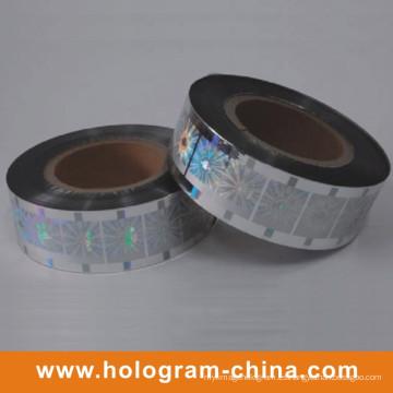 Silver Laser Hologram estampación en caliente