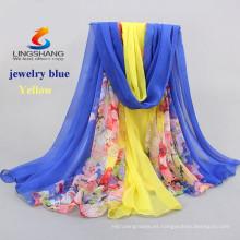 La venta caliente de la manera diseñe la bufanda multicolora viscosa de la bufanda del hombro del pashmina del abrigo