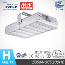 UL de 200W, Dlc énumérés industriel LED lumière avec Philips LED Chips moyenne bien pilote