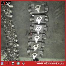 Válvula de bola de acero forjado de ANSI