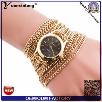 Yxl-418 New Design Long Chain Women Wrap Around Weave Lady Bracelet Watches Fancy Women Ladies Watch Wrist
