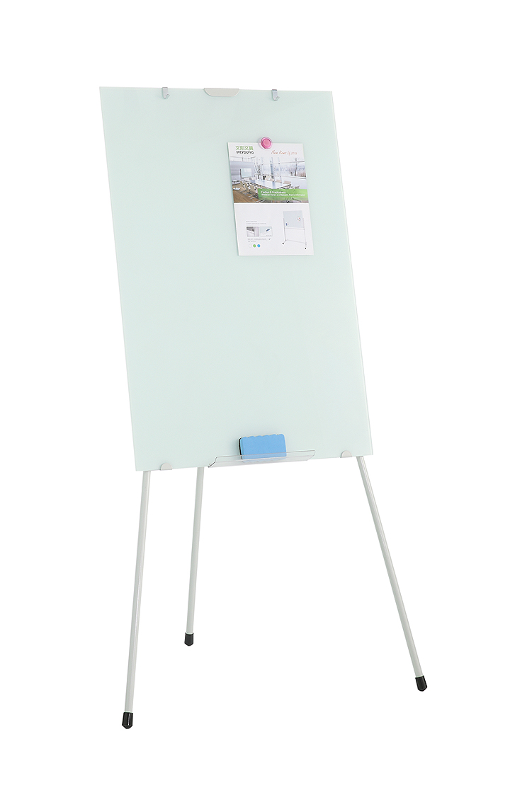 Tripod tempered glass flipchart whiteboard