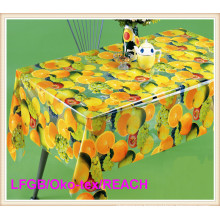 Printed PVC Transparent Clear Tablecloth