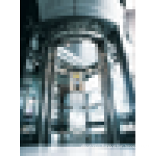 Hydraulic residential sightseeing passenger elevator of circular shape