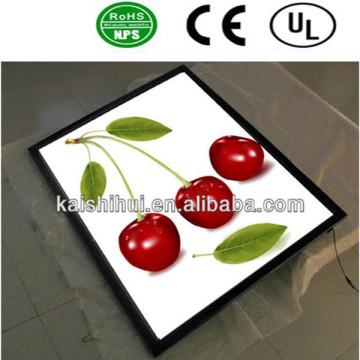 LED Slim caja de luz publicitaria signo cartelera