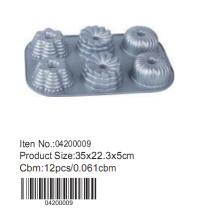 moule à muffins en aluminium 6 tasses