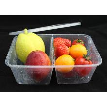 Recipiente para alimentos de microondas de plástico de doble rejilla