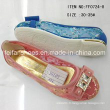 Fashion Girl Shoes Princess Shoes Chaussures à chaussures simples (FF0724-8)