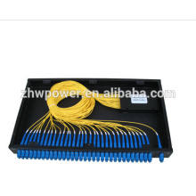 1x32 Fibre Optique Splitter avec 19 'Rackmount, PLC Splitter Module SM, Inserted SC pigtail fiber plc splitter