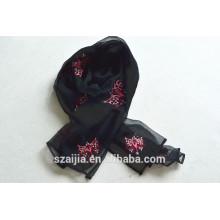 Nueva bufanda bordada animal de las señoras de la manera 015