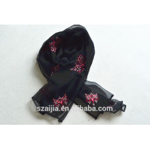 New fashion ladies animal embroidered scarf 015